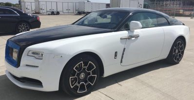 Rolls Royce white black